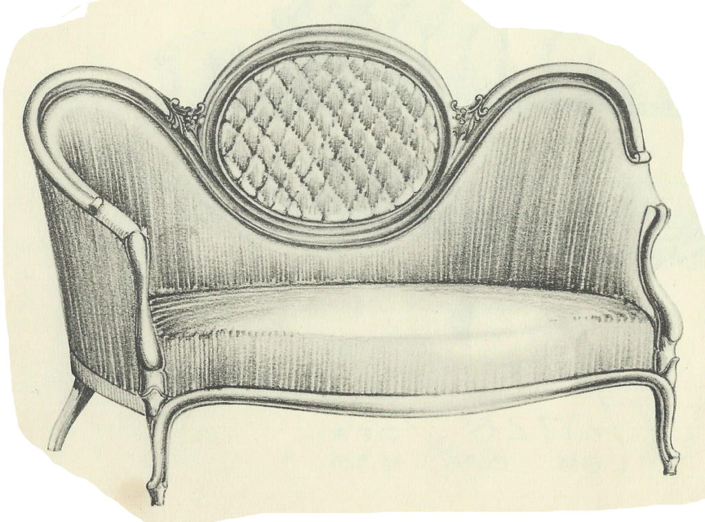 Tufted Oval Settee