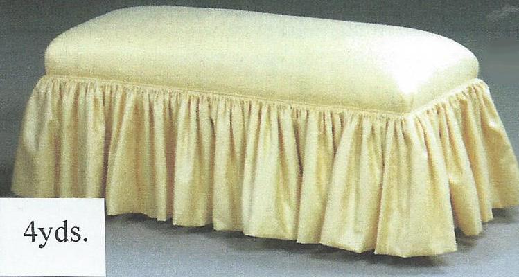 Skirted Bench