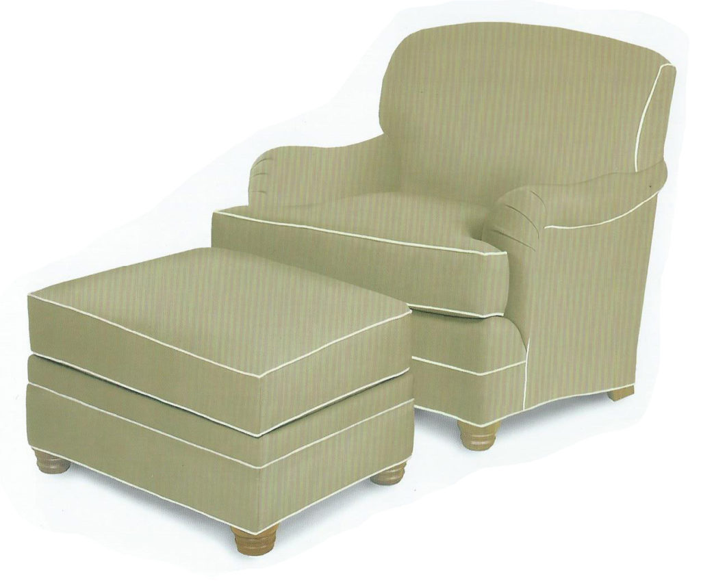 Easy Chair with Ottoman