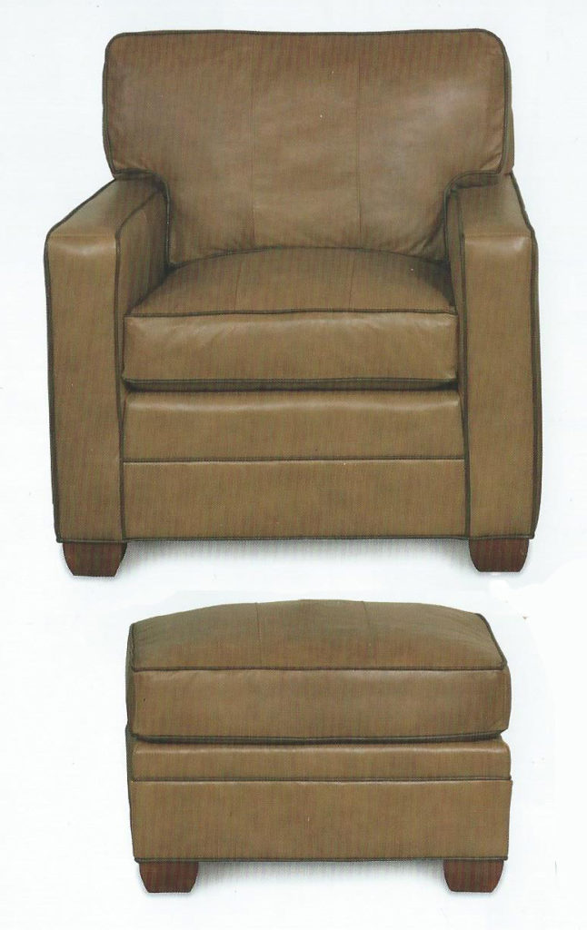 Loose Back Chair with Ottoman