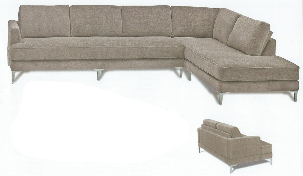 Six Pillow Sectional
