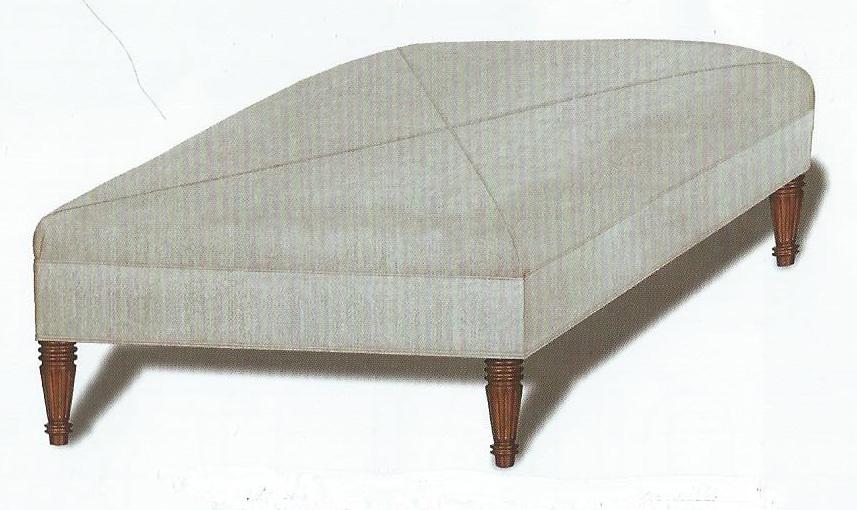 Sewn Top Ottoman
