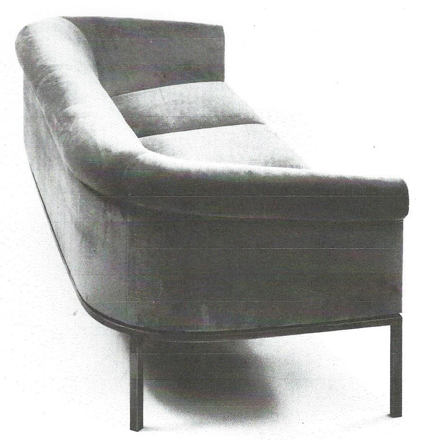 Round Back Sofa Two Cushion