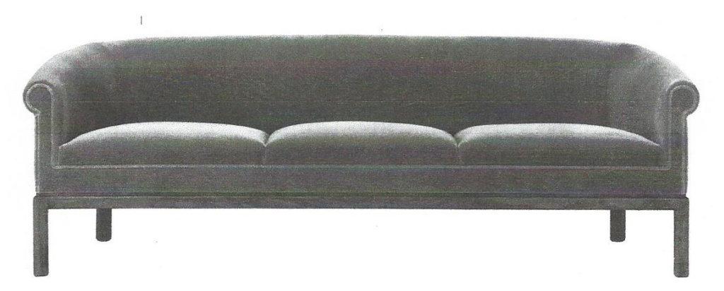 Round Back Sofa Three Cushion